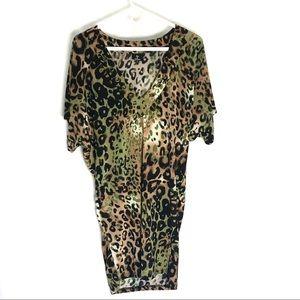 Hot & Delicious Sex Animal Print Tunic Mini dress